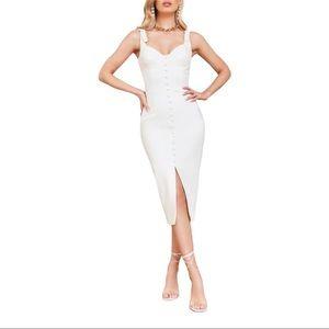 NEW Lavish Alice Buckle Strap Underwire Midi Dress